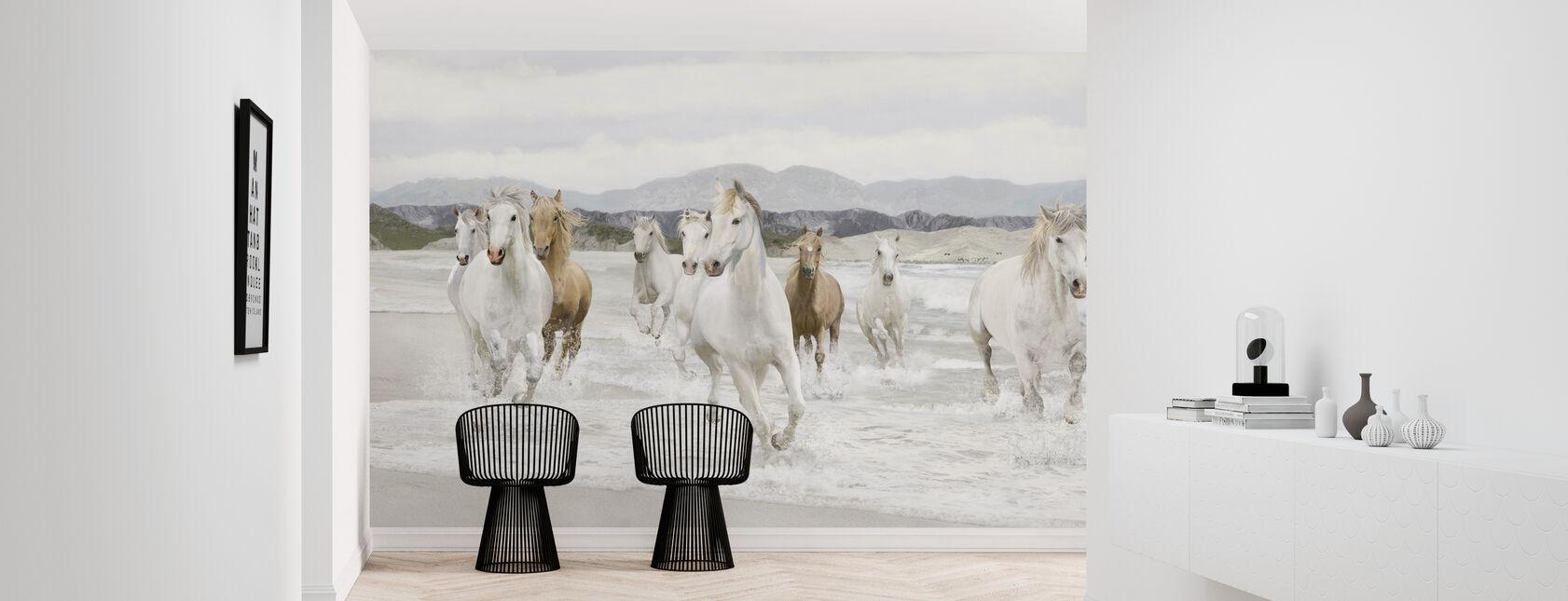 Wilde Paarden - Behang - Gang