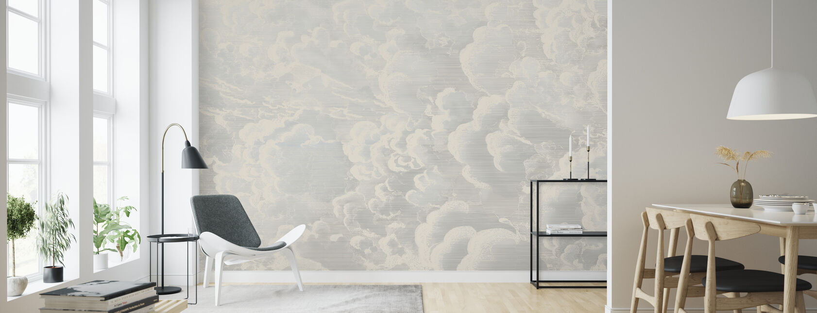 Cradled in Clouds - Wallpaper - Living Room