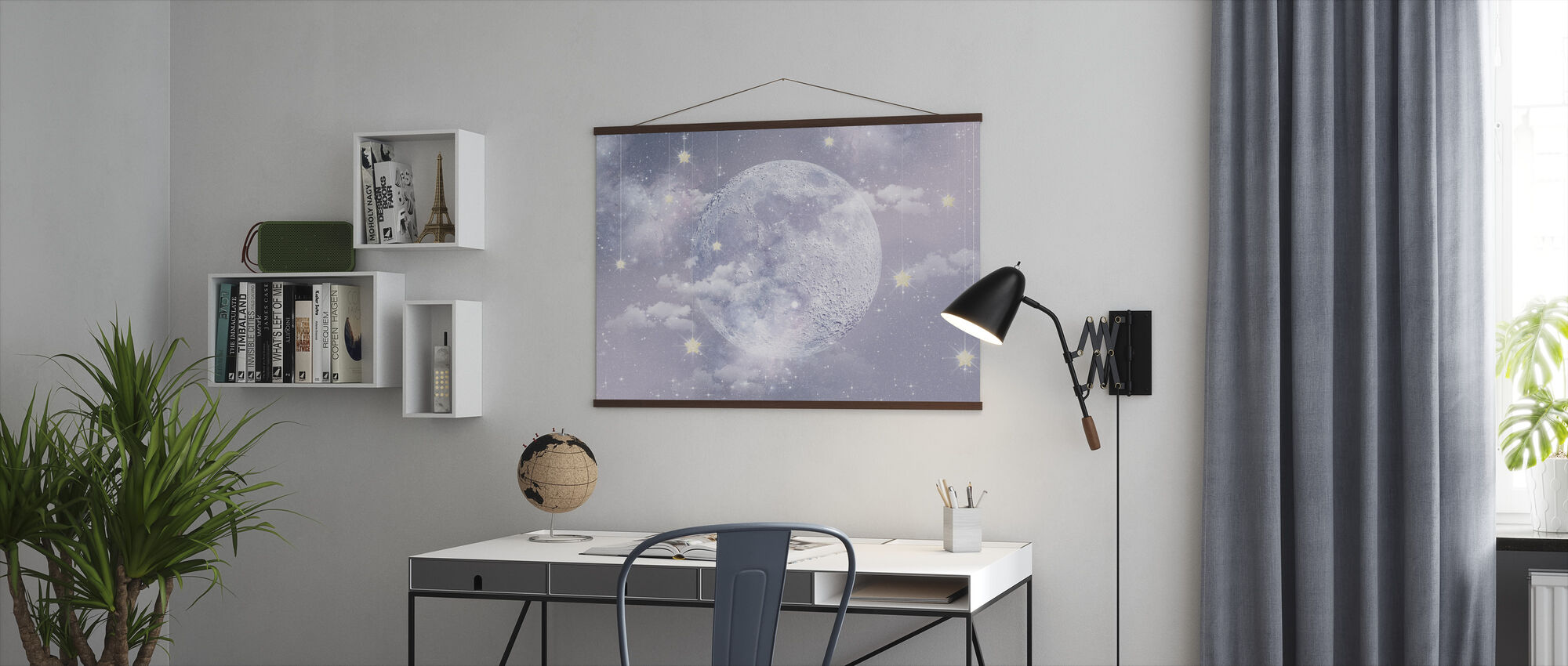 Moon with stars - Poster - Office