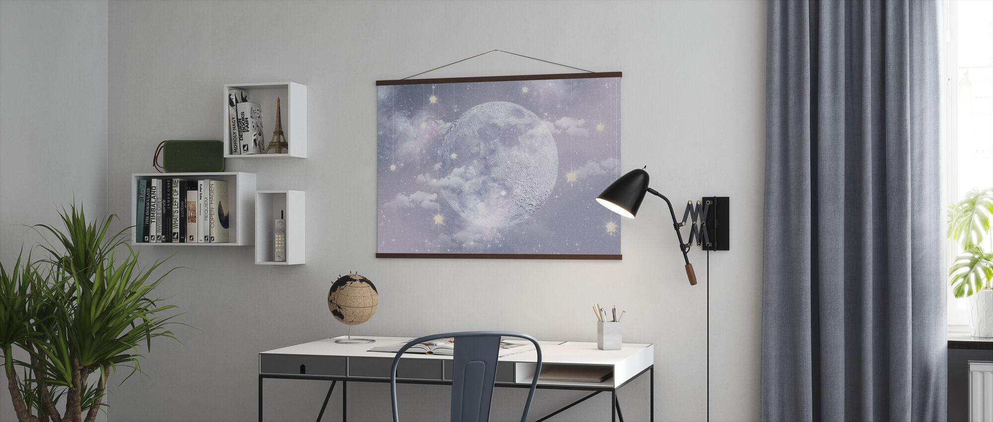 Maan met sterren - Poster - Kantoor