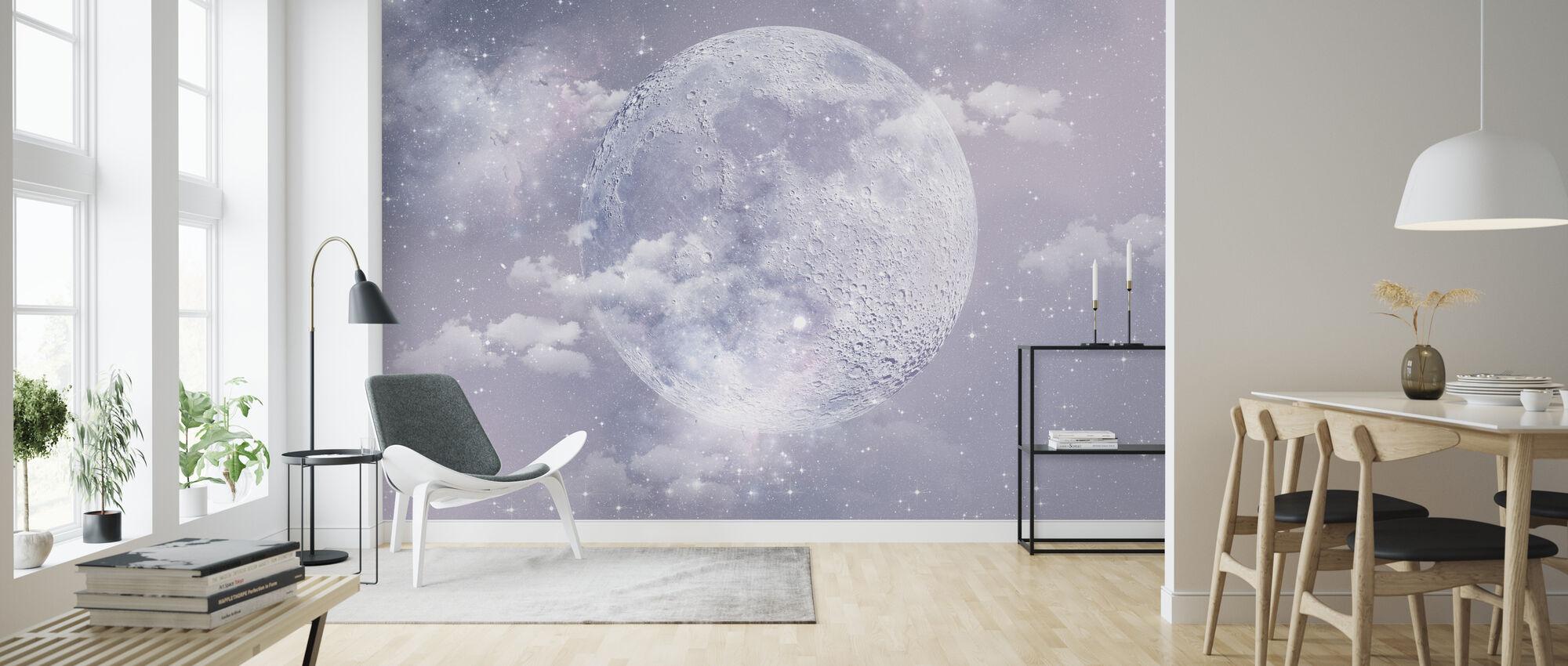 Moon - Wallpaper - Living Room