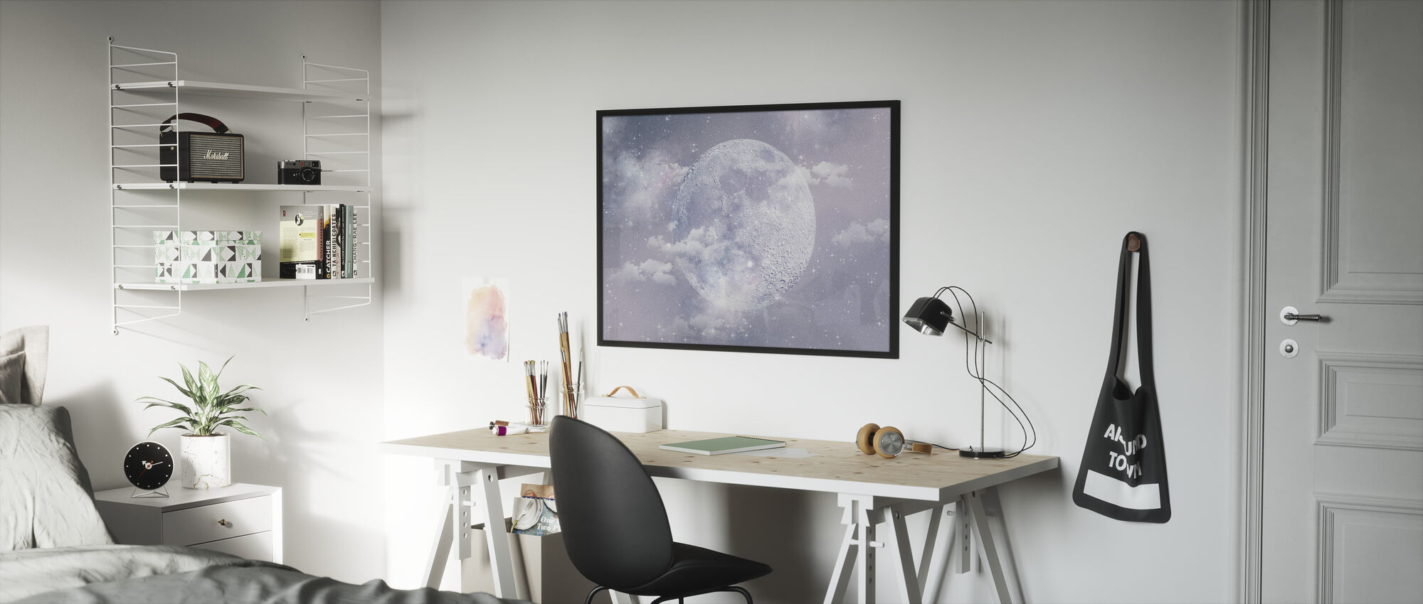 Moon - Framed print - Kids Room