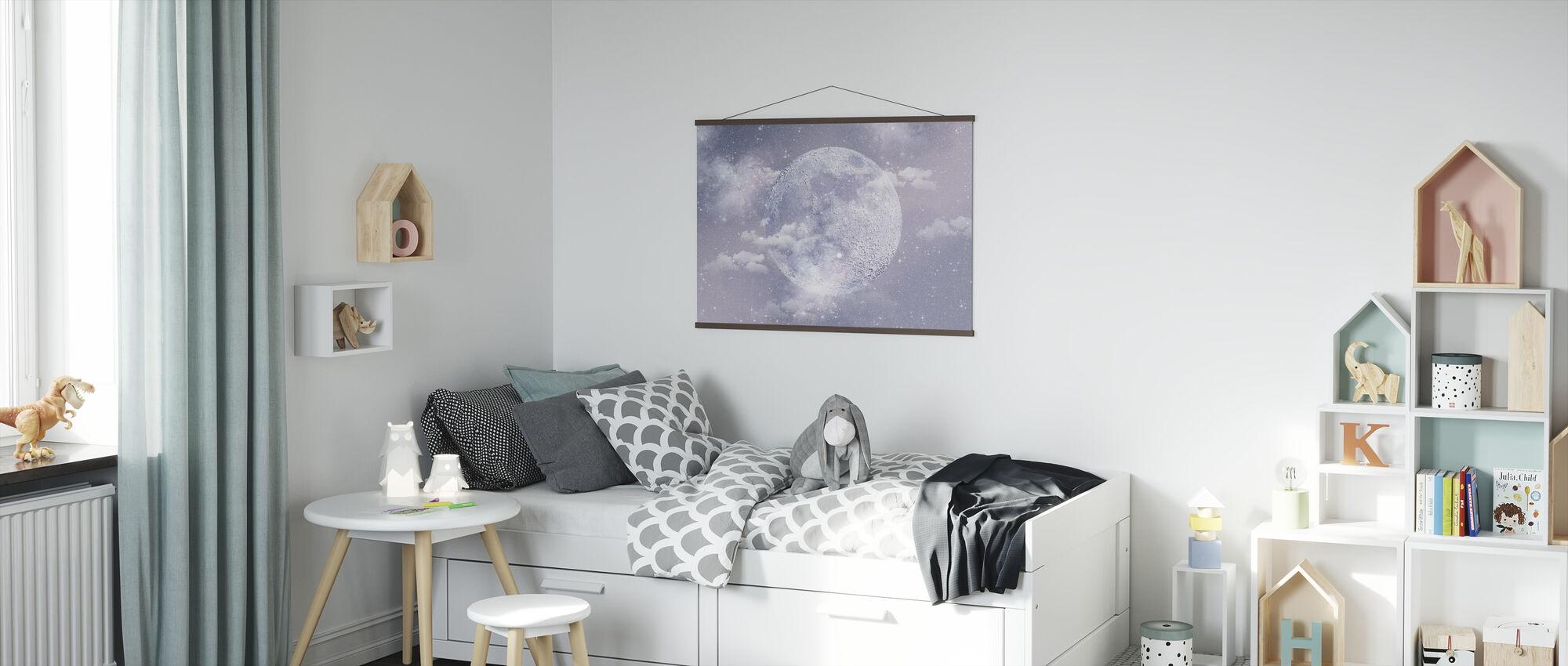 Måne - Plakat - Barnerom