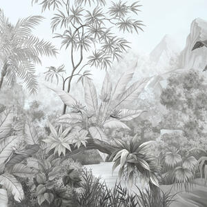 Tangled Jungle Bw Decorate With A Wall Mural Photowall