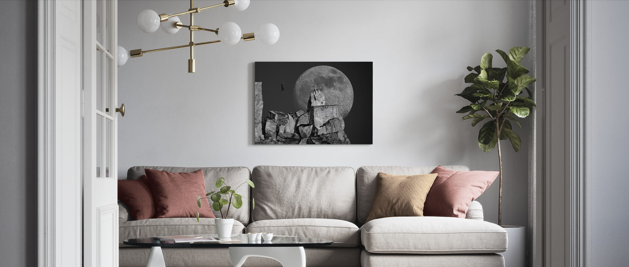 Moonwalk - Canvas print - Living Room