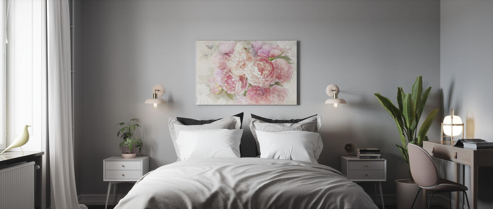 Pionit - Canvastaulu - Makuuhuone