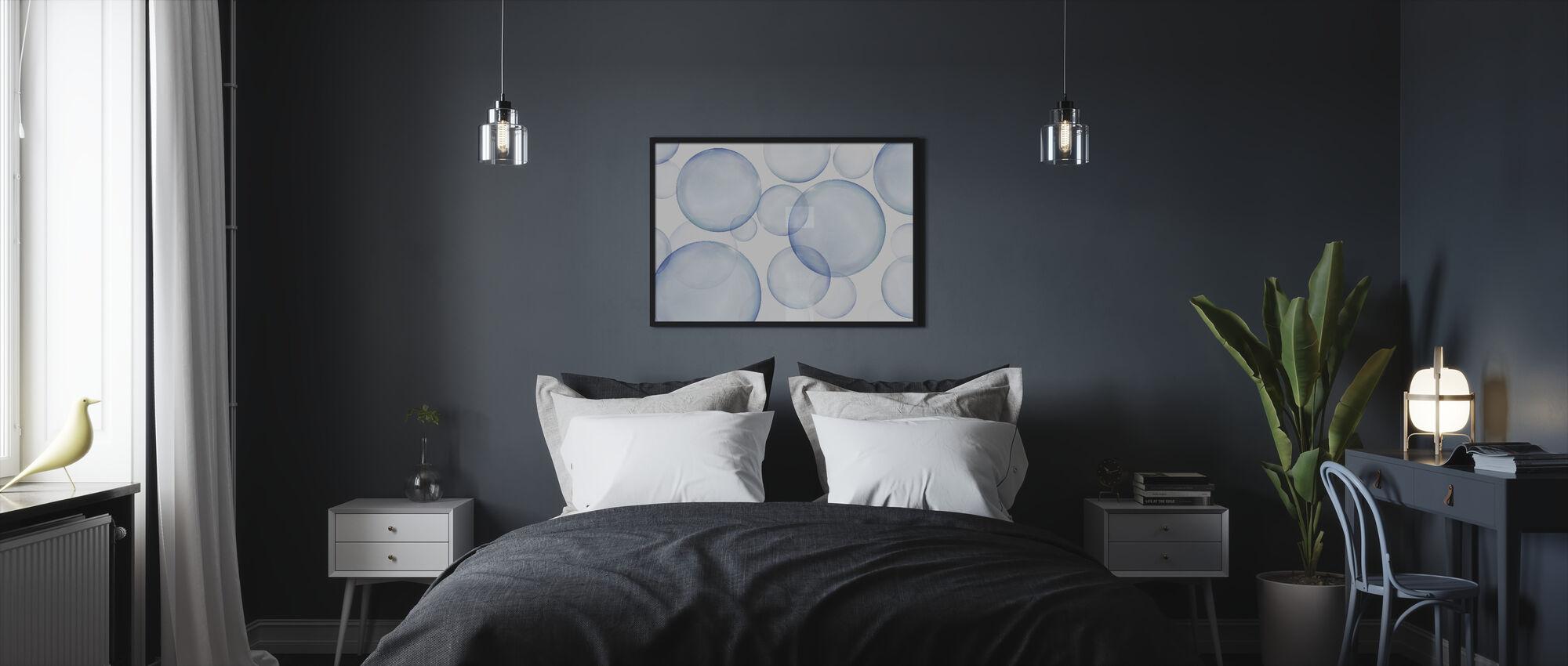 Rising Bubbles - Framed print - Bedroom