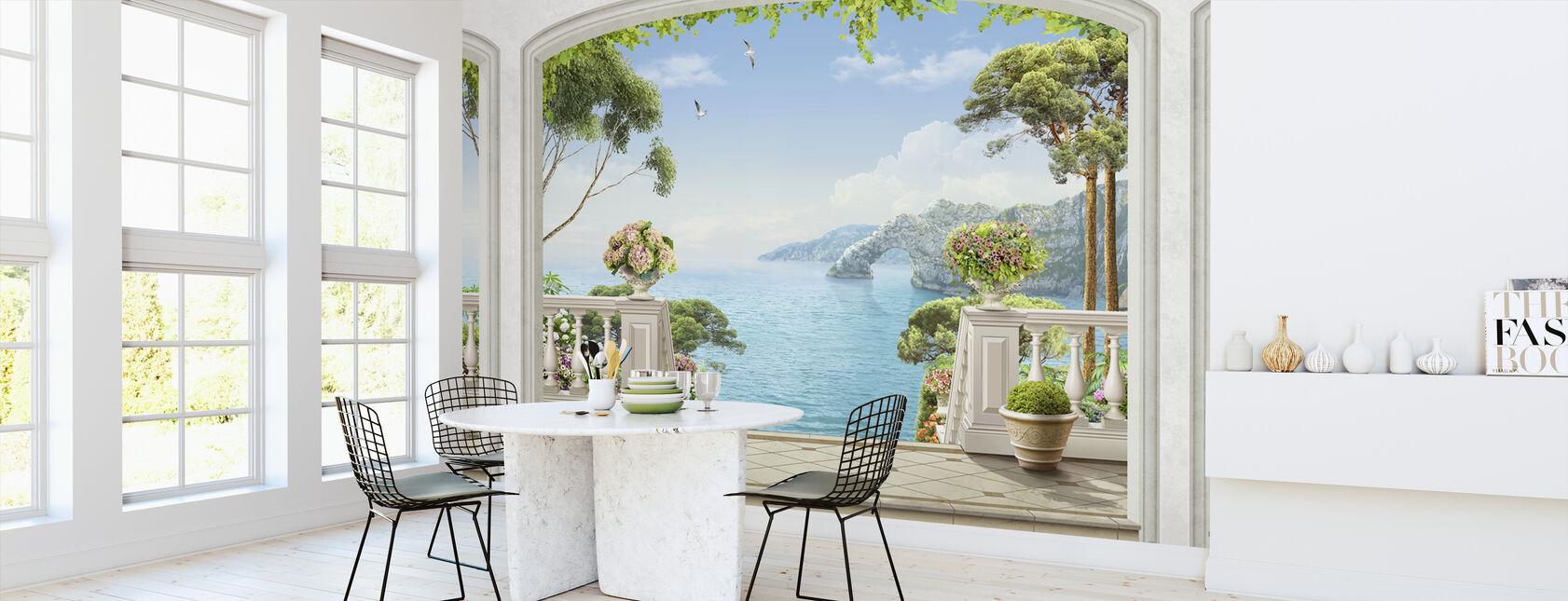 Terrace Sea View - Wallpaper - Kitchen