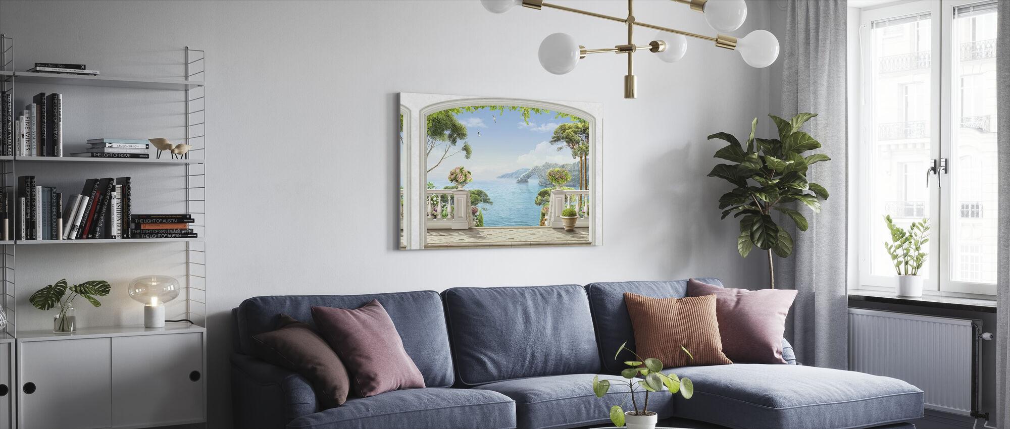 Terrace Sea View - Canvas print - Living Room