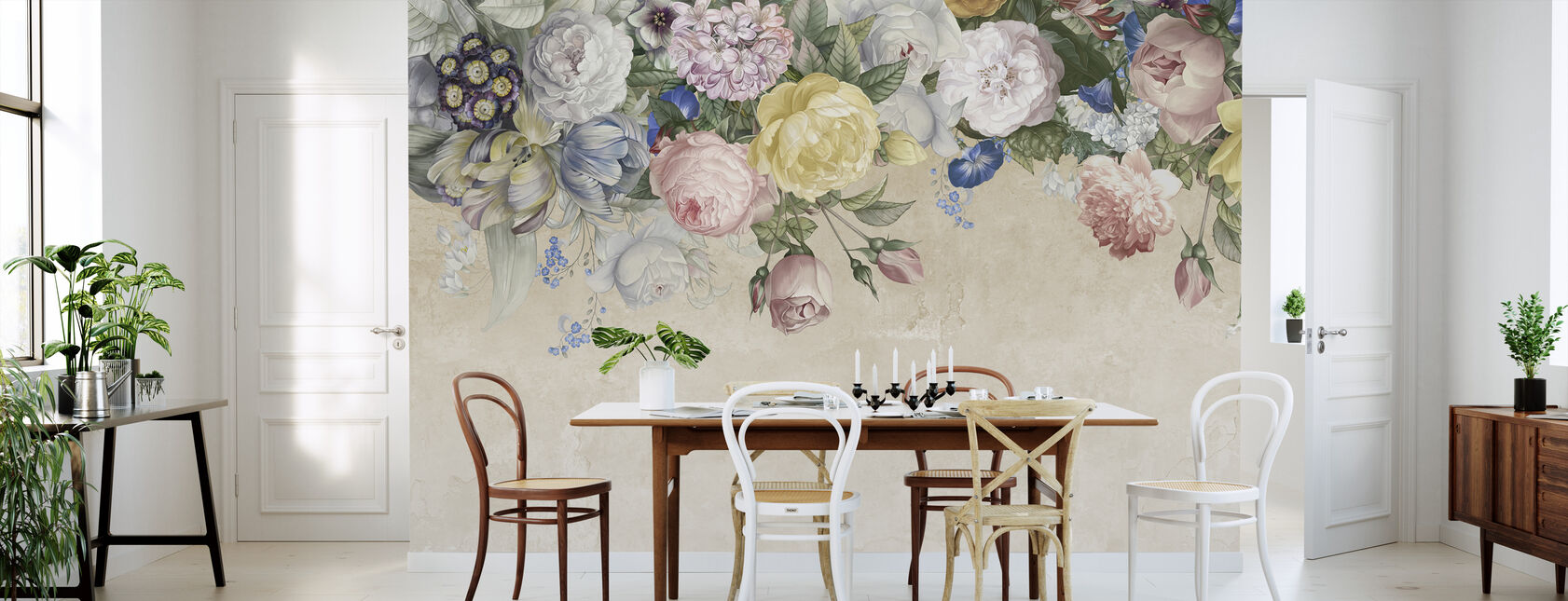 Wall of Flowers - Wallpaper - Kitchen