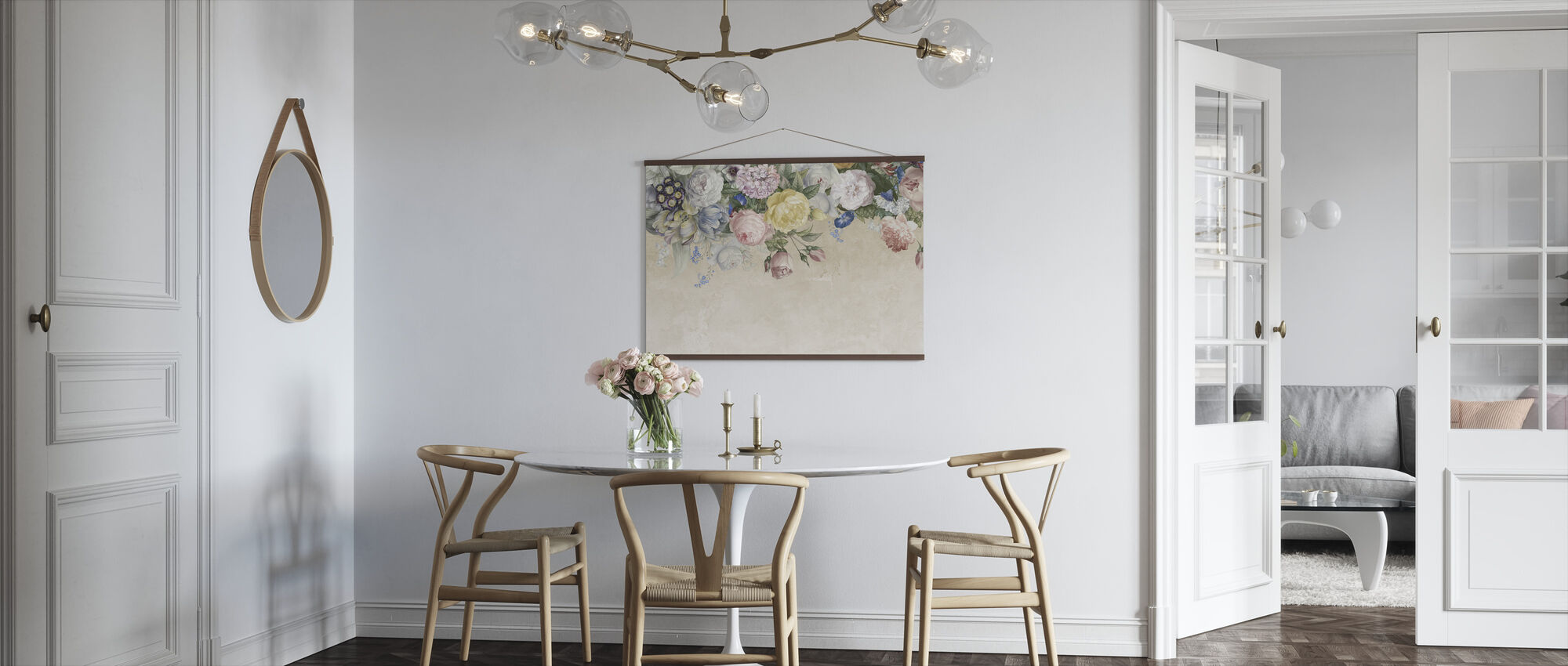 Wall of Flowers - Poster - Kitchen