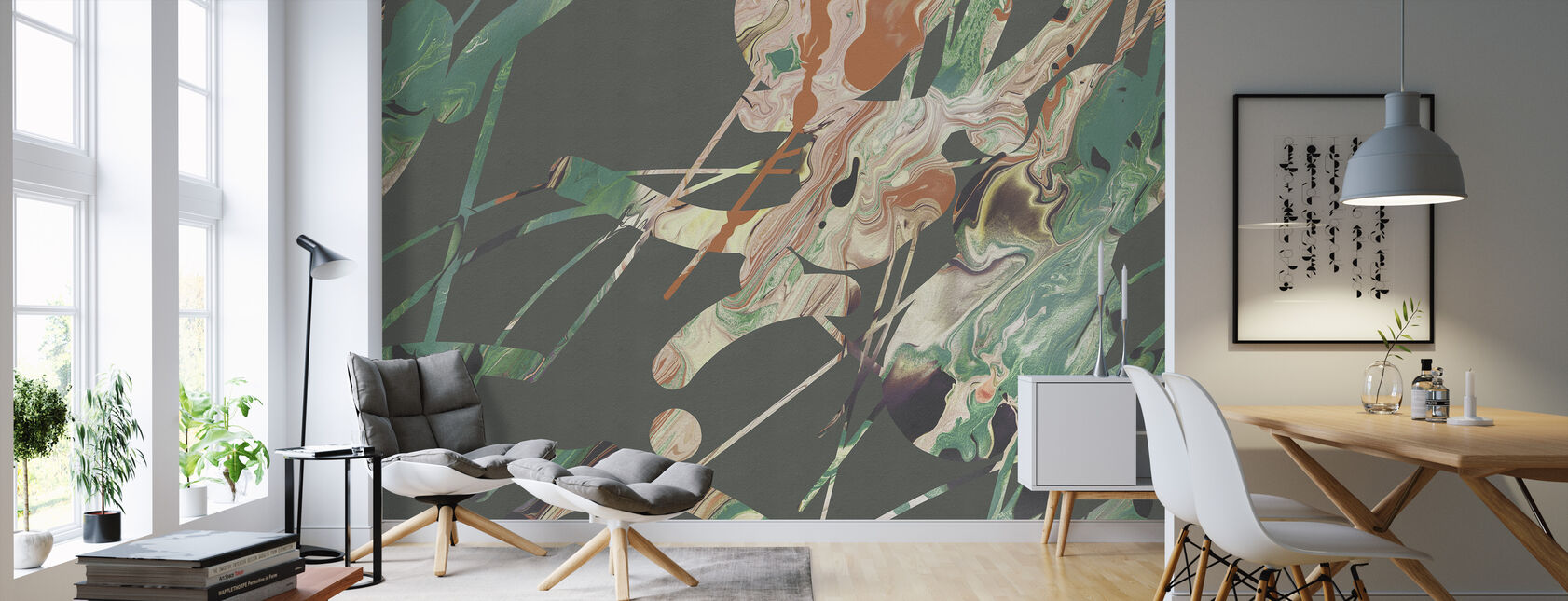 Acrylic Passion - Emerald - Wallpaper - Living Room