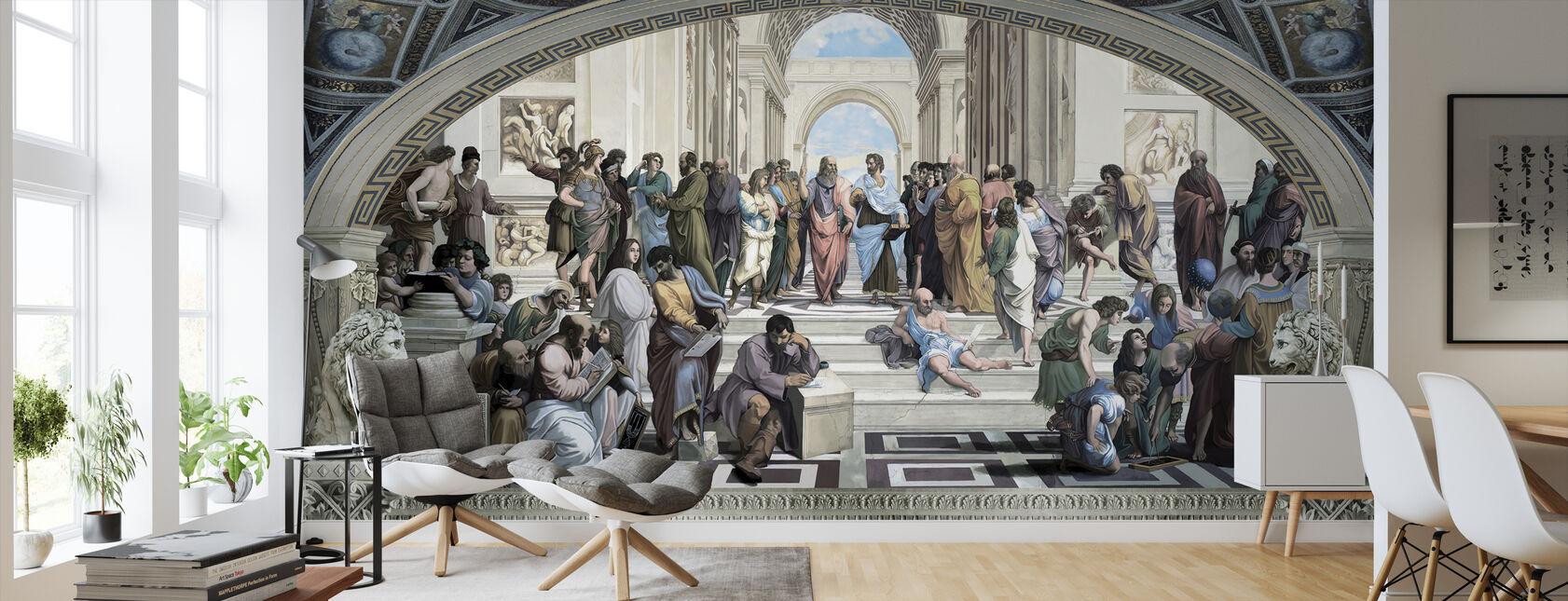 Athens School - Wallpaper - Living Room