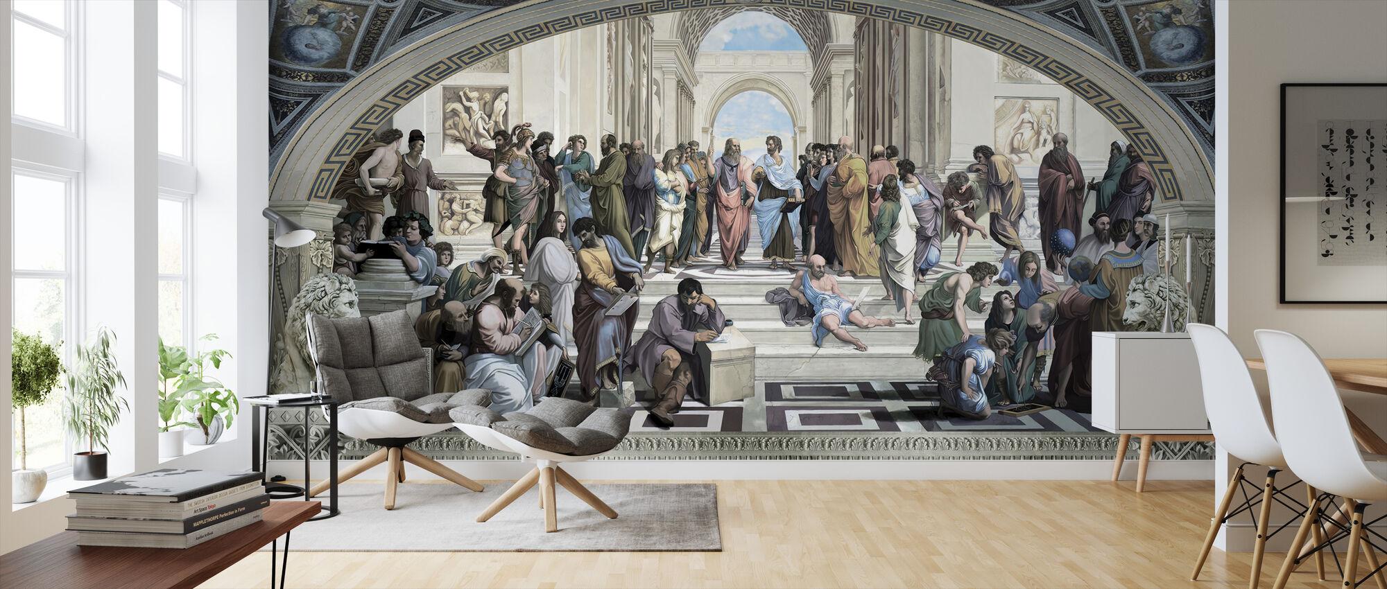 Ateenan koulu - Tapetti - Olohuone