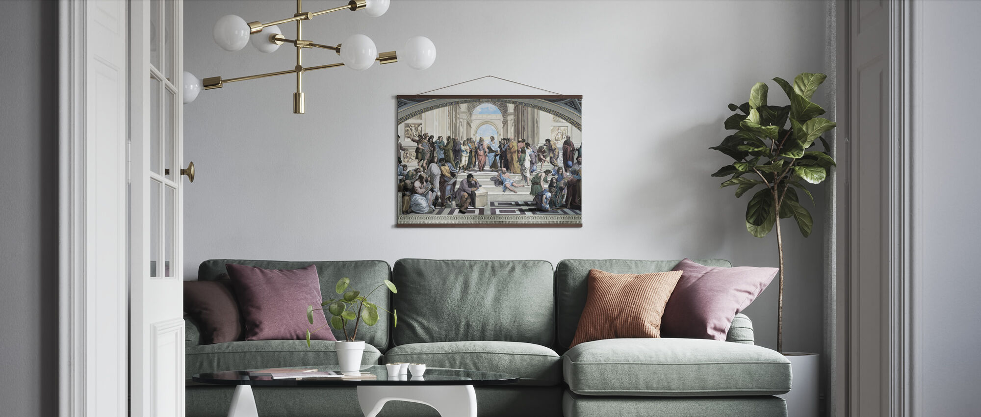 Athens School - Poster - Living Room