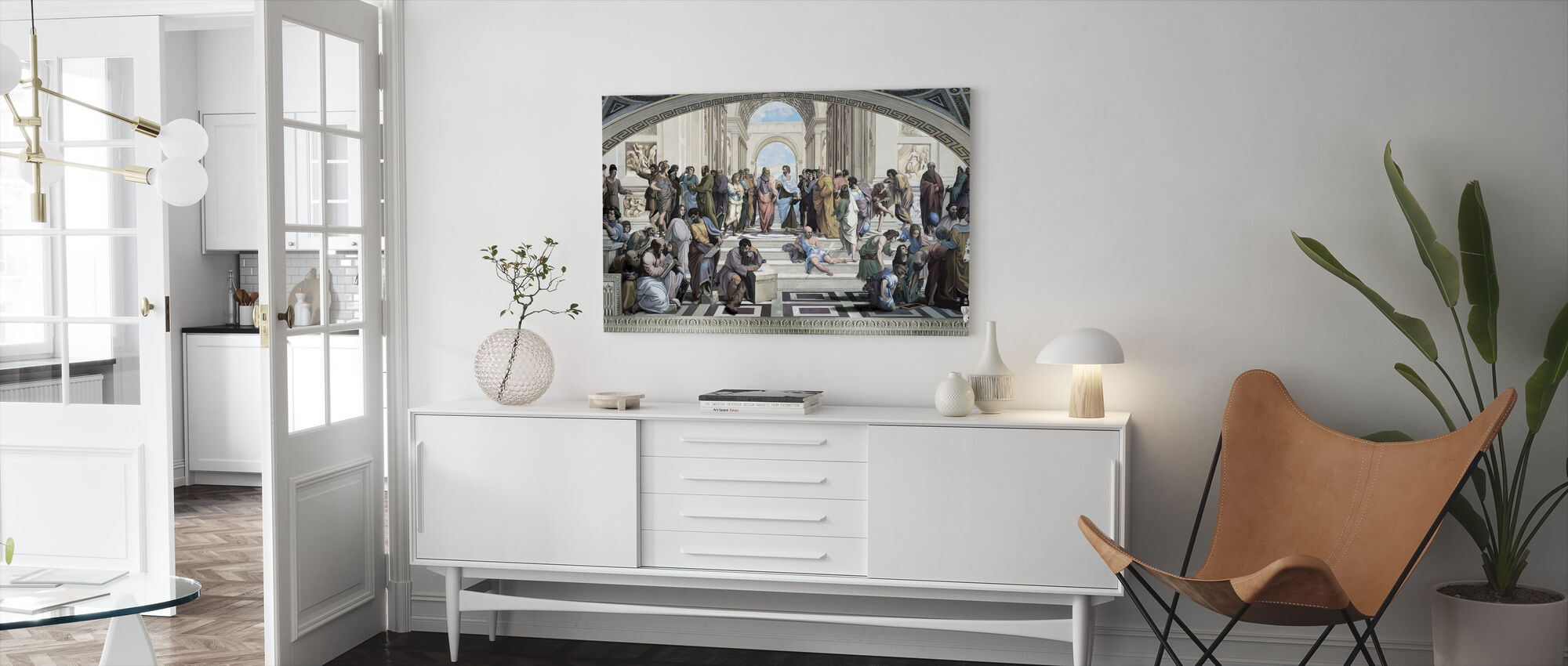 Athens School - Canvas print - Living Room