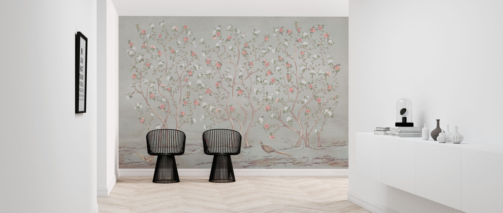 Chinoiserie Trees - Leafy - Wallpaper - Hallway