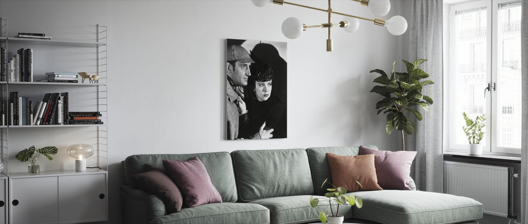 Adventures - Basil Rathbone and Ida Lupino - Canvas print - Living Room