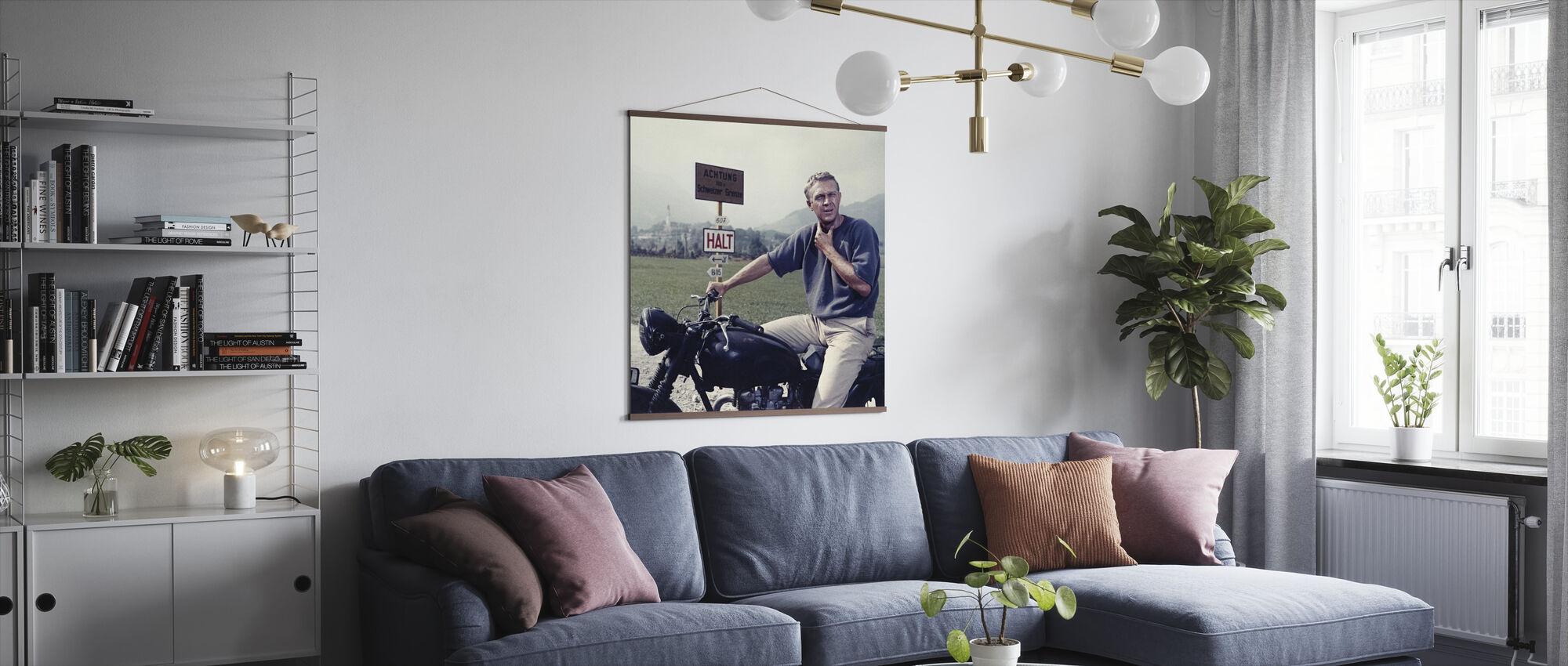 Great Escape -Steve McQueen - Poster - Living Room