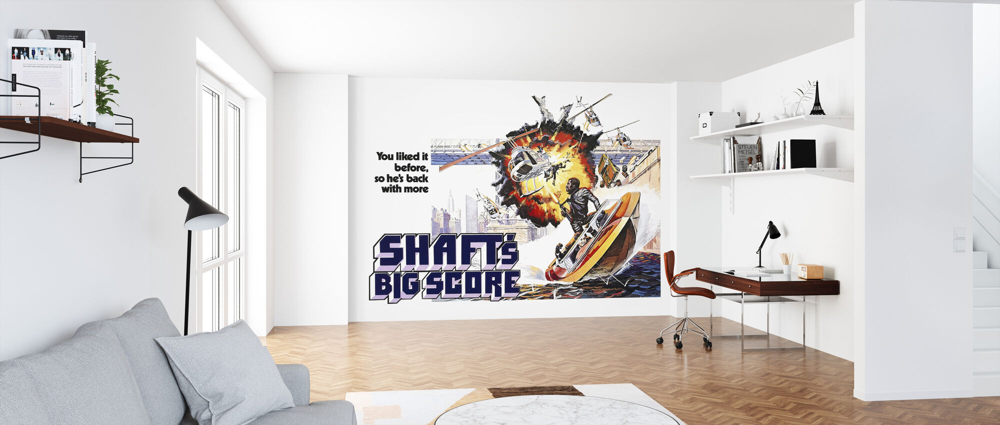 Shafts Big Score - Gordon Parks - Wallpaper - Office