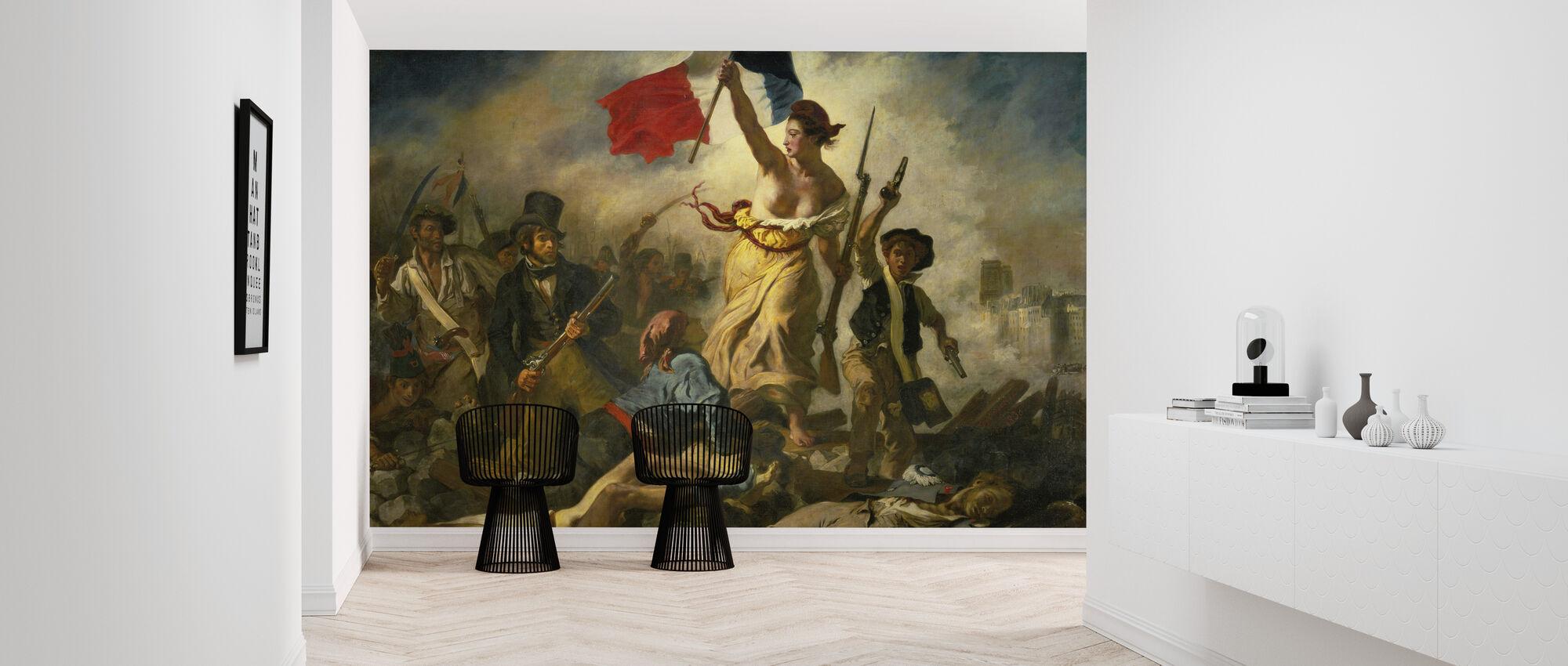 Bastille Day - Eugene Delacroix - Wallpaper - Hallway