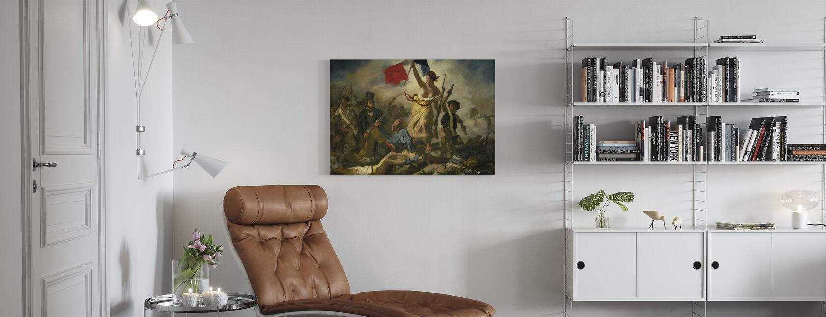 Bastillen päivä - Eugene Delacroix - Canvastaulu - Olohuone