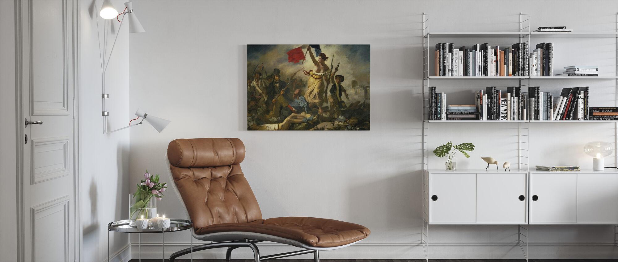 Bastille Dag - Eugene Delacroix - Canvas print - Woonkamer