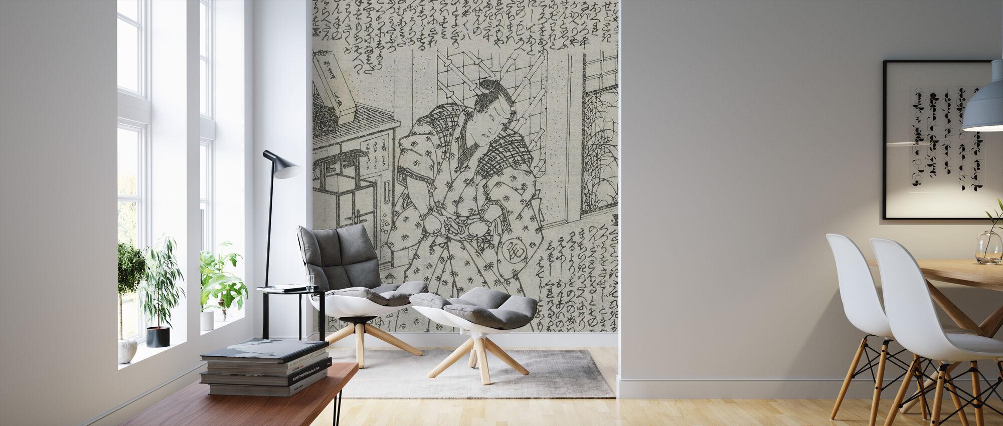 Novel Illustration - Utagawa Kunisada - Wallpaper - Living Room