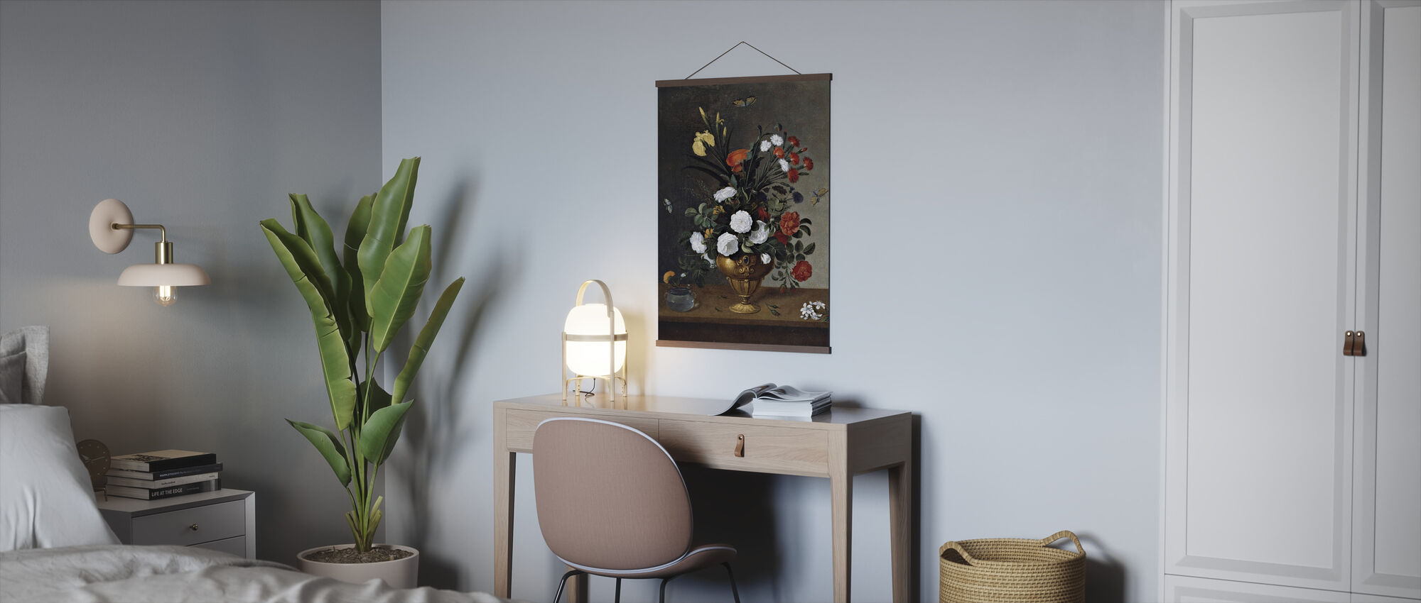 Flower Vase- Pedro Camprobin - Poster - Office