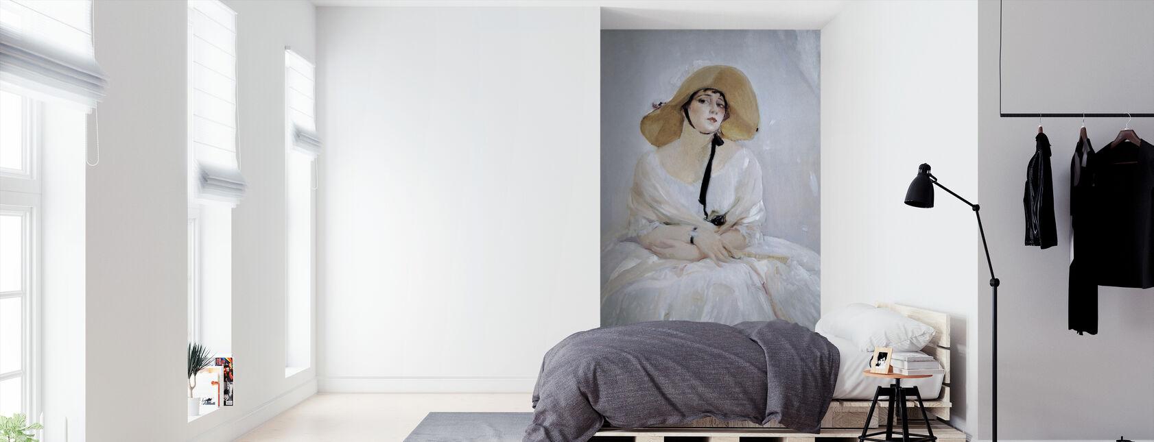 Portret van Raquel Meller - Joaquin Sorolla - Behang - Slaapkamer