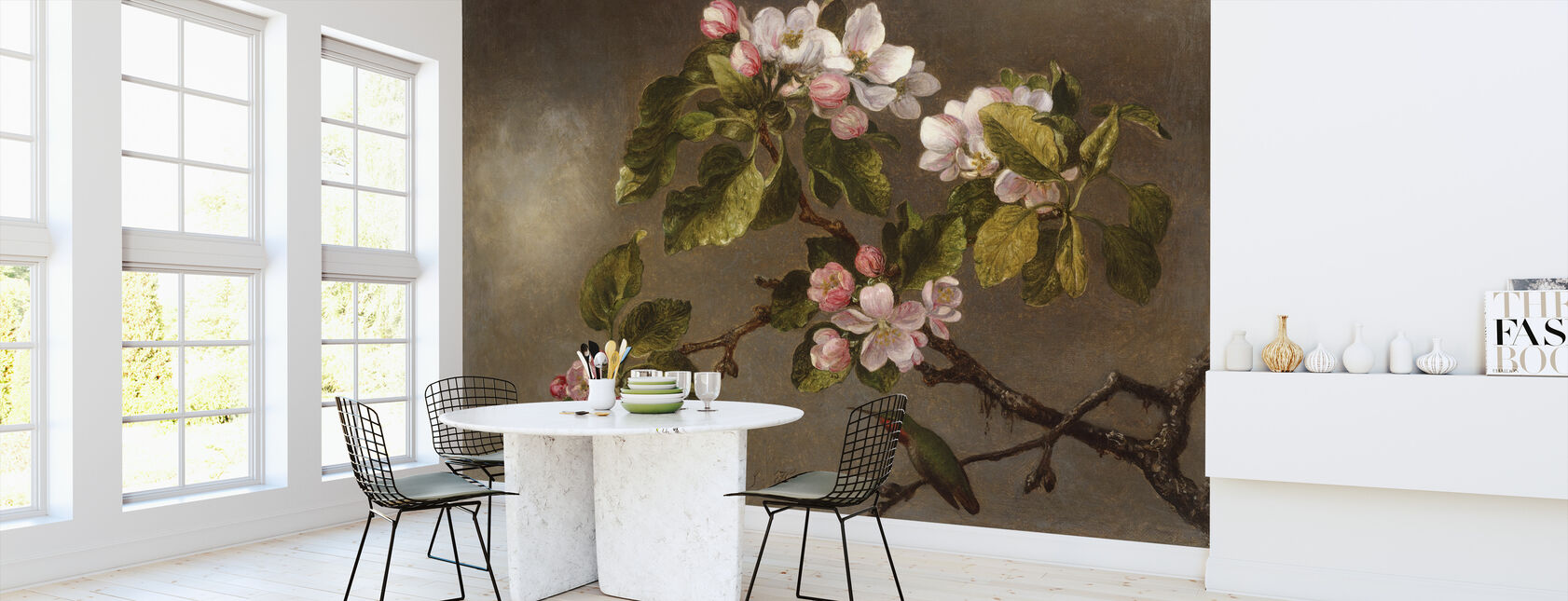 Kolibrie en appelbloesems - Martin Johnson Heade - Behang - Keuken