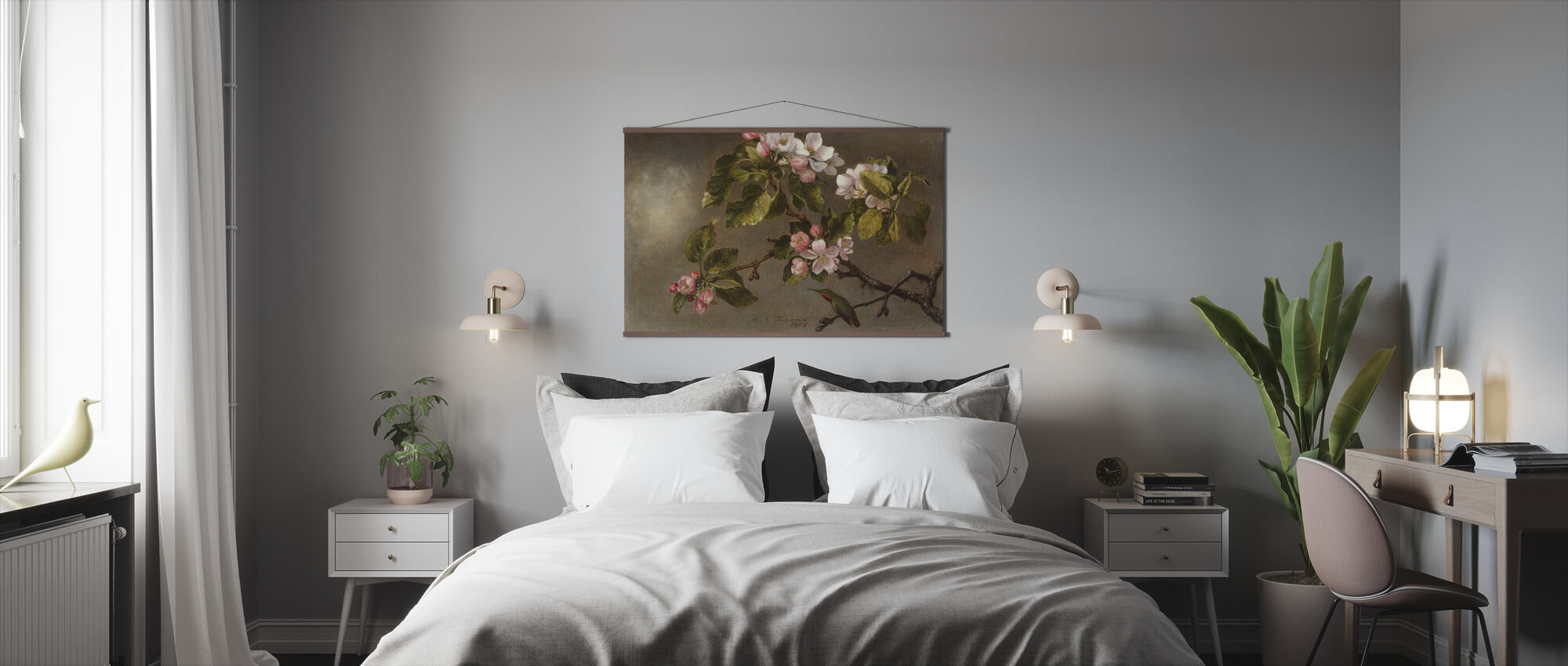 Kolibri ja Apple Blossoms - Martin Johnson Heade - Juliste - Makuuhuone