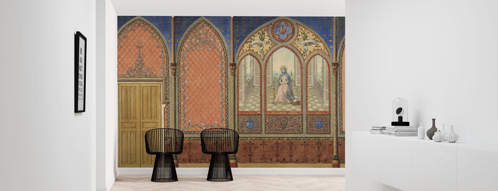 Elevation of a Church - Jules Edmond Charles Lachaise - Wallpaper - Hallway