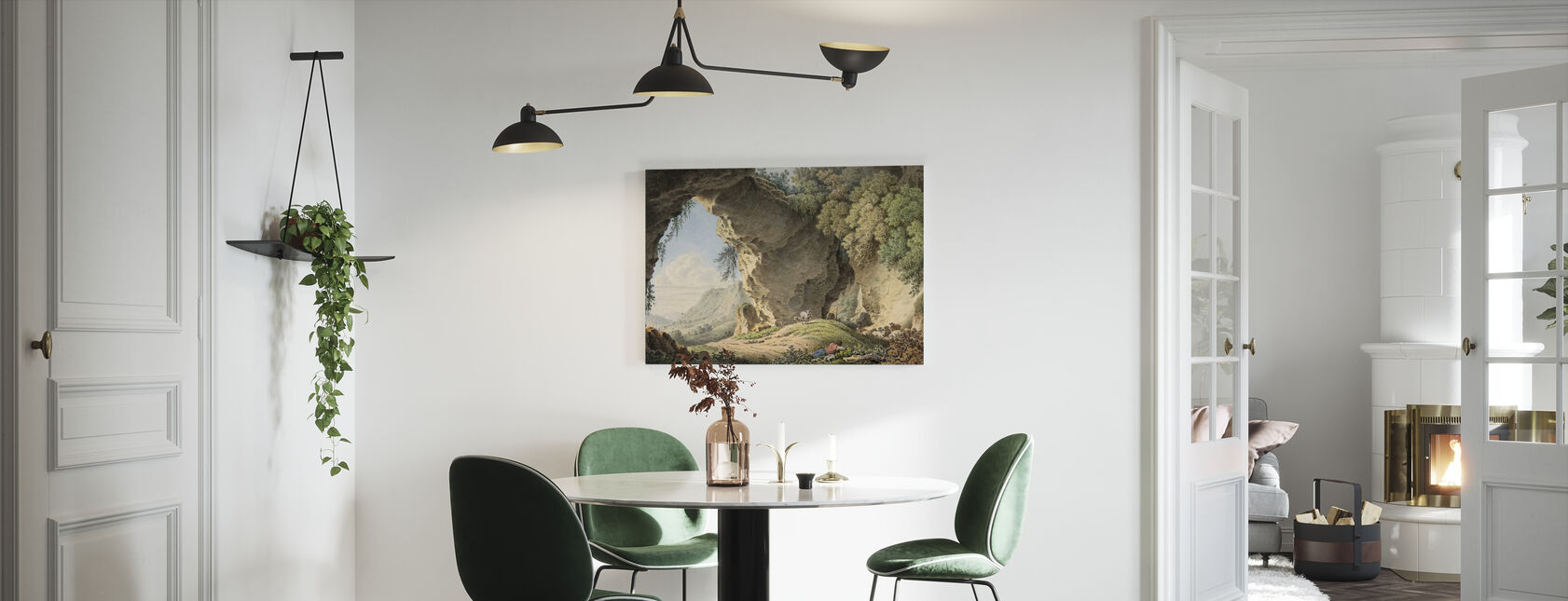 Rotsachtig landschap - Philip Heinrich Dunker - Canvas print - Keuken