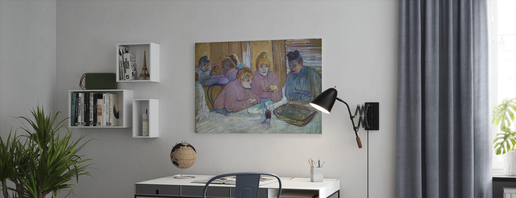 Damer - Henri de Toulouse Lautrec - Lerretsbilde - Kontor