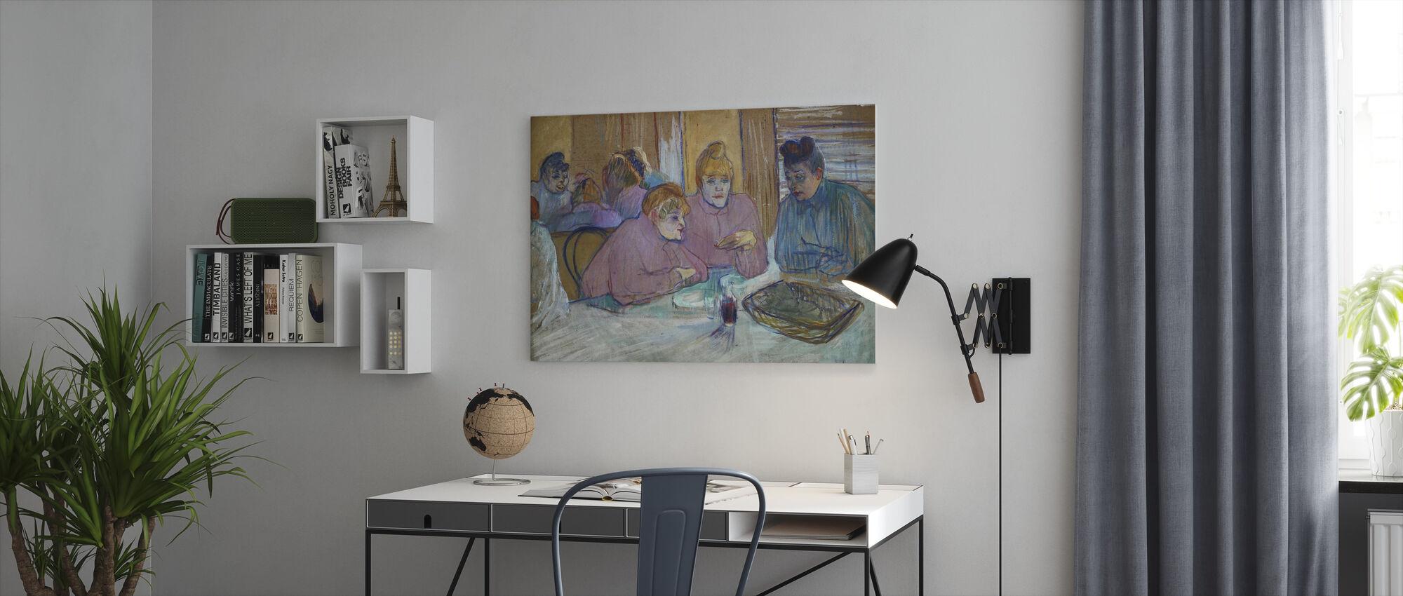 Naiset - Henri de Toulouse Lautrec - Canvastaulu - Toimisto