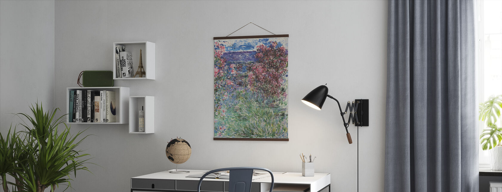 House Among Roses - Claude Monet - Poster - Office