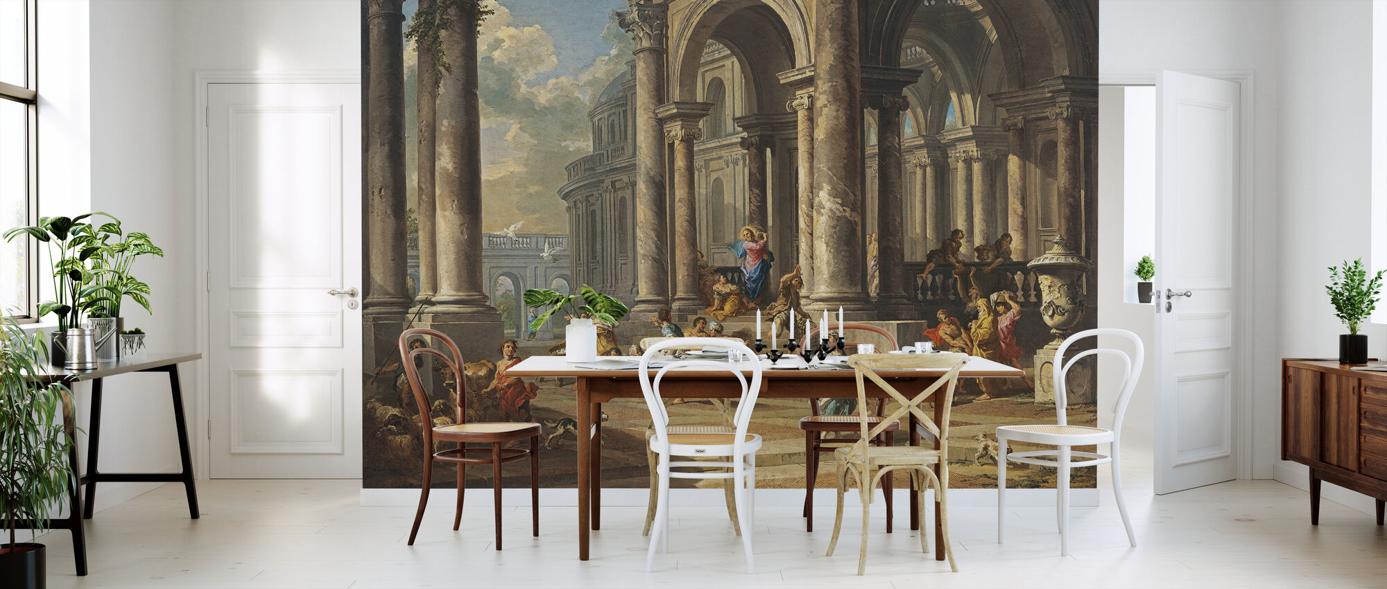 Cleansing of the Temple - Gian Paolo Panini - Wallpaper - Kitchen
