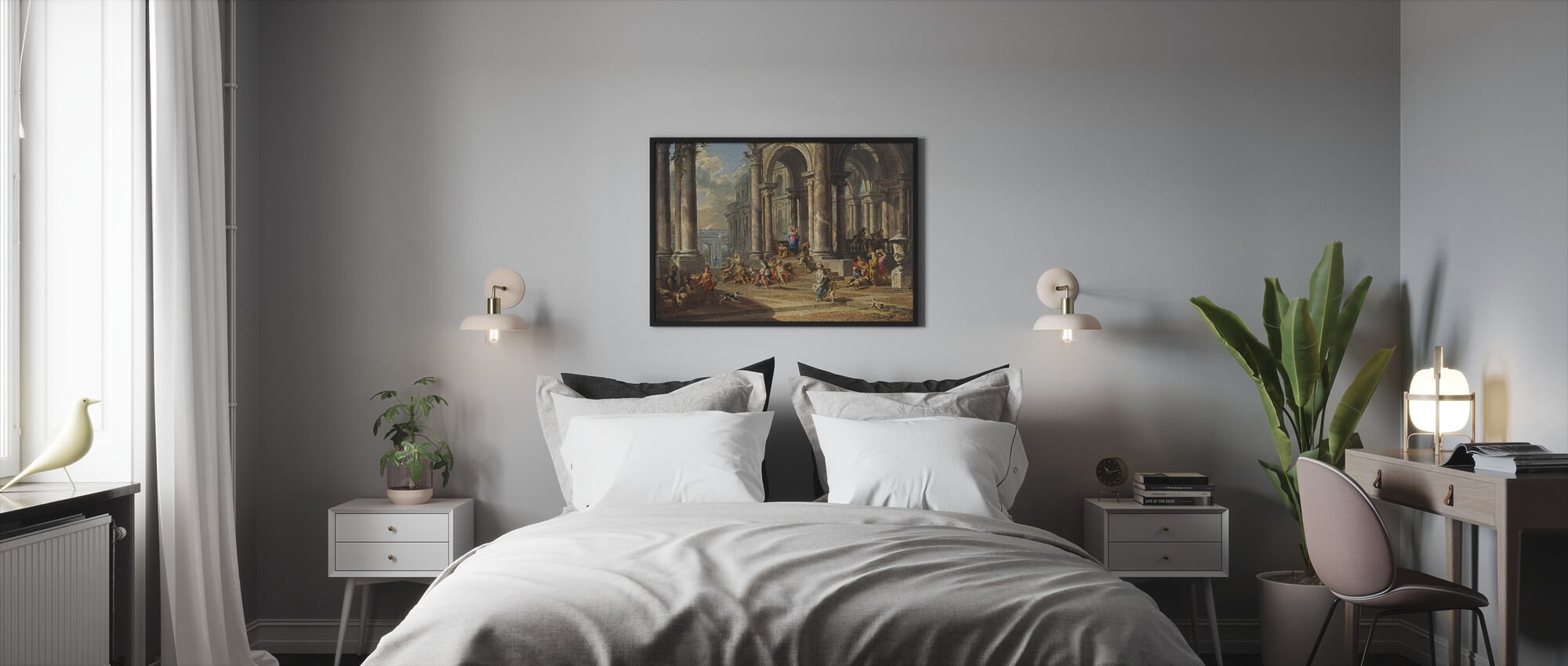 Cleansing of the Temple - Gian Paolo Panini - Framed print - Bedroom