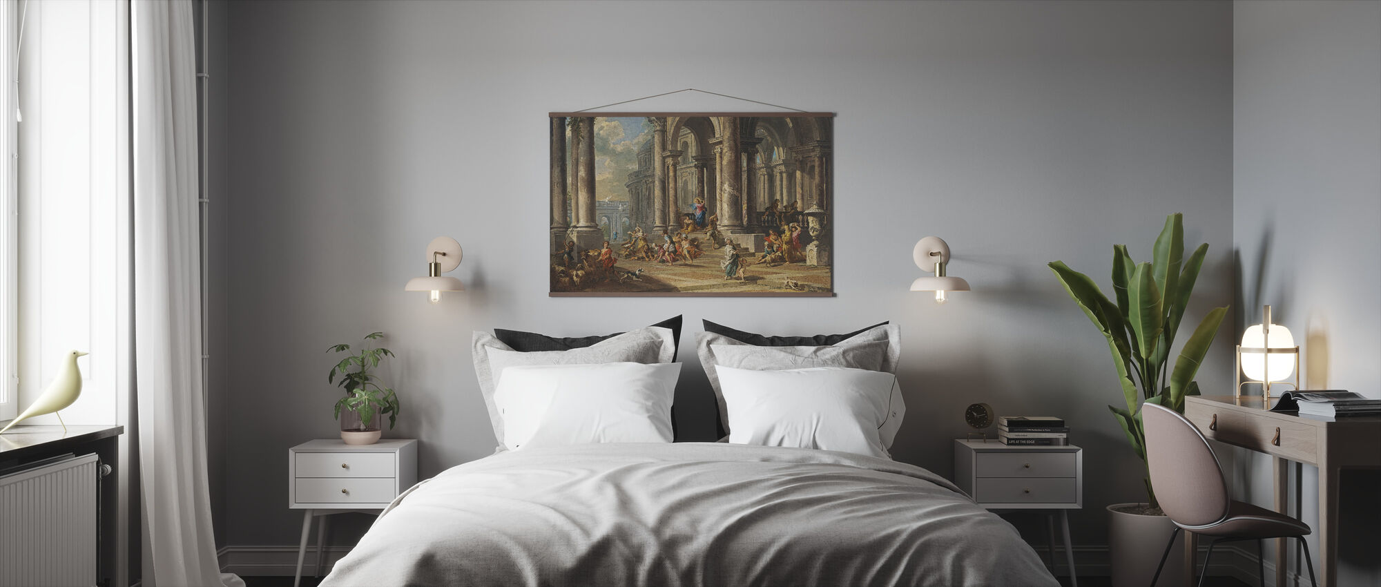 Cleansing of the Temple - Gian Paolo Panini - Poster - Bedroom