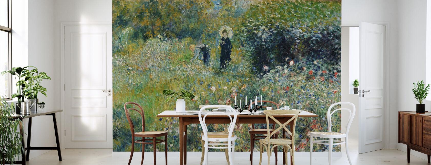 Woman in a Garden - Pierre Auguste Renoir - Wallpaper - Kitchen