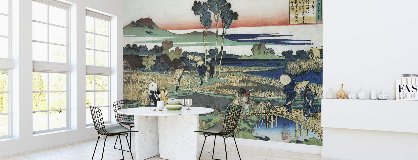 Peasants in Autumn - Katsushika Hokusai - Wallpaper - Kitchen