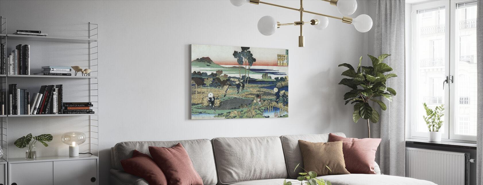 Peasants in Autumn - Katsushika Hokusai - Canvas print - Living Room