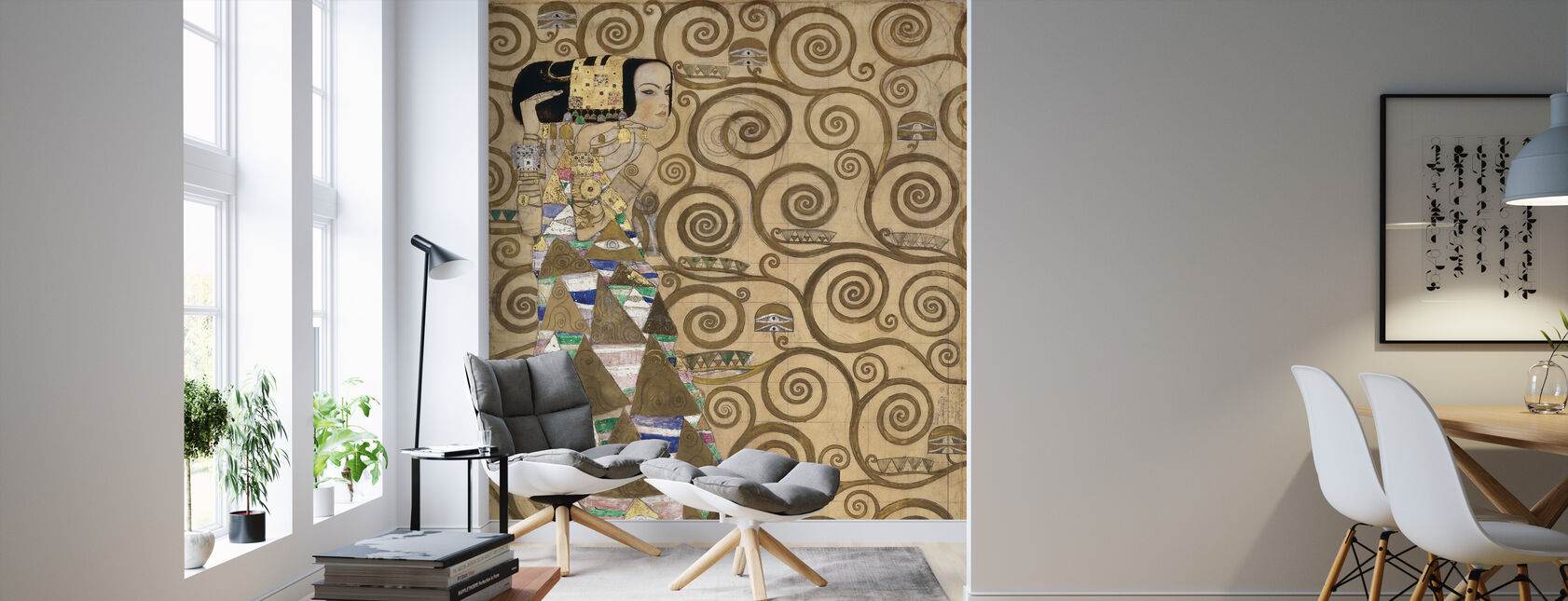 Expectation - Gustav Klimt - Wallpaper - Living Room