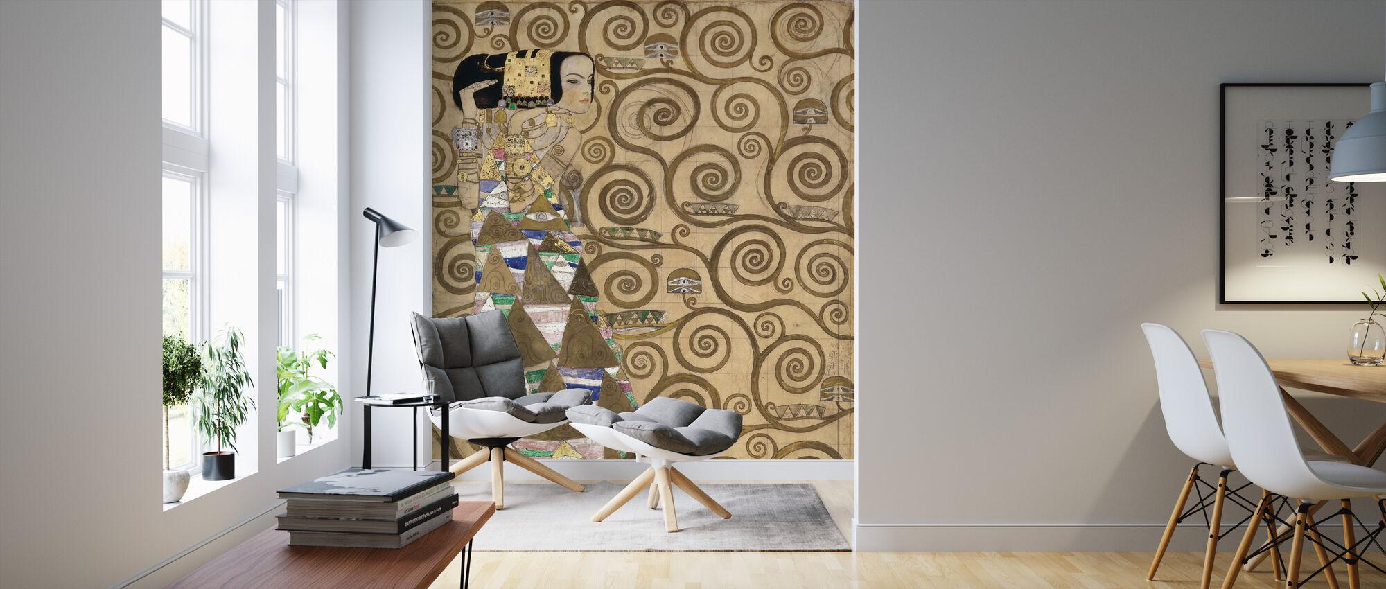 Verwachting - Gustav Klimt - Behang - Woonkamer