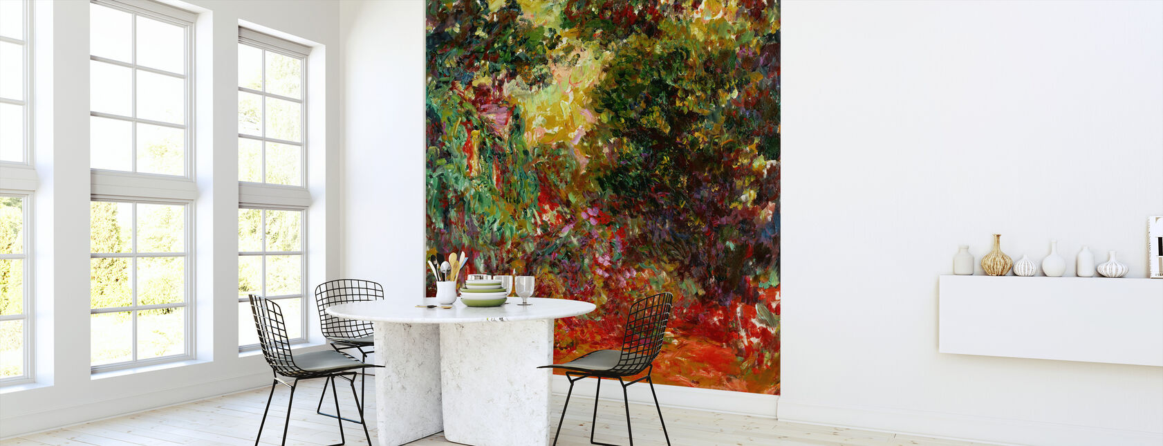Rose Garden - Claude Monet - Wallpaper - Kitchen