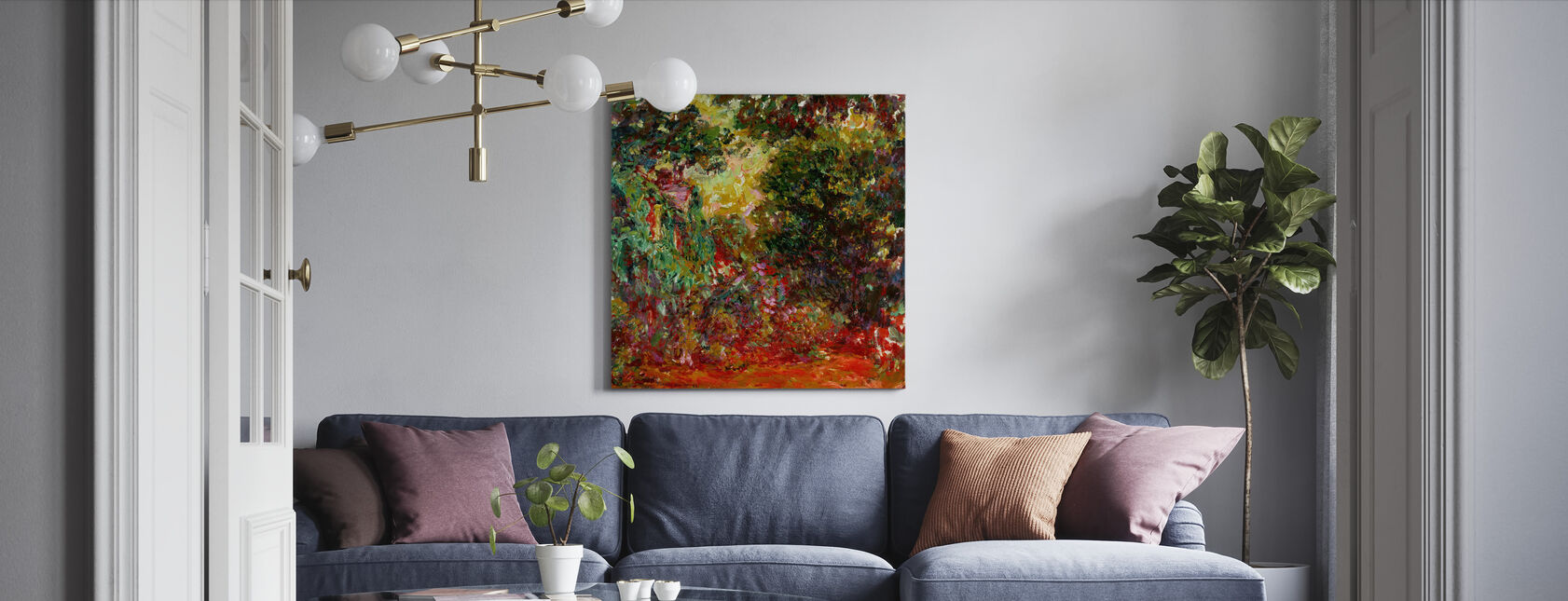 Rose Garden - Claude Monet - Canvas print - Living Room
