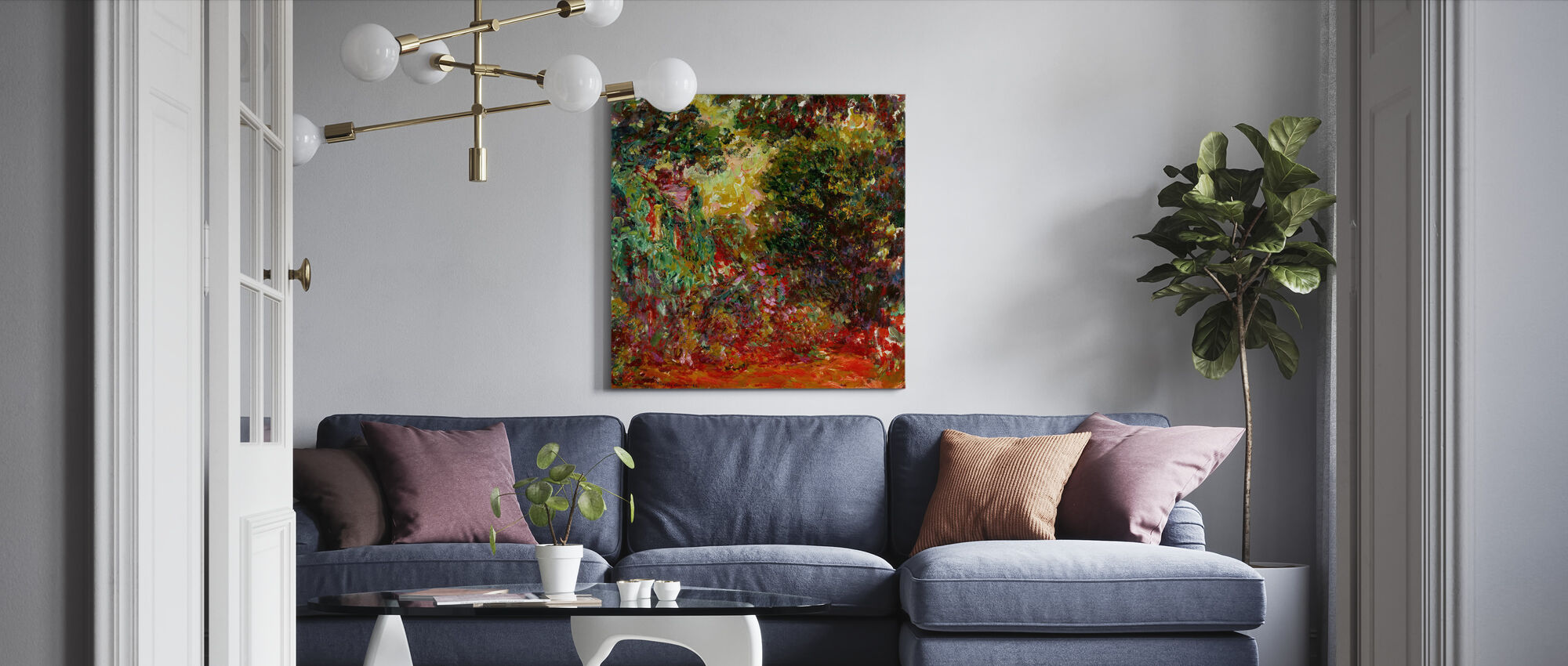 Rose Garden - Claude Monet - Canvas print - Living Room