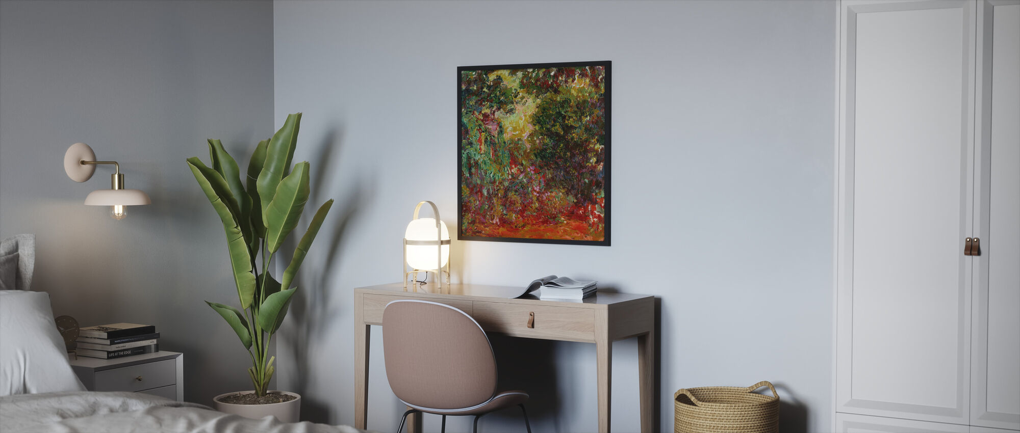 Rose hage - Claude Monet - Innrammet bilde - Soverom