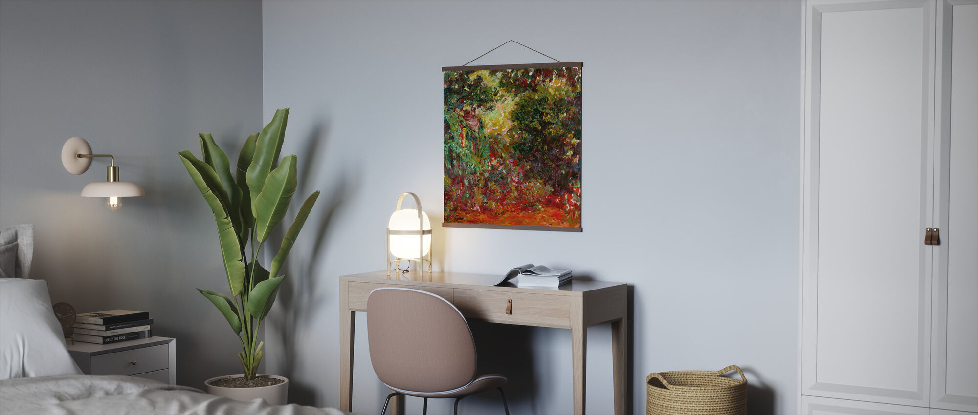 Rose hage - Claude Monet - Plakat - Kontor